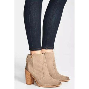 TORY BURCH Leena Ankle Bootie Briarwood Taupe Tan